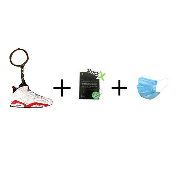 com máscara + Keychain + stockx tag