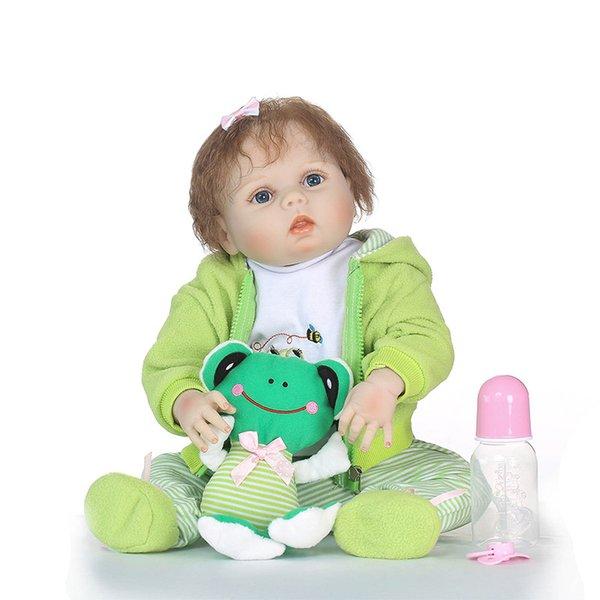 57CM Full Body Soft Silicone Girls Bebe Reborn Baby Doll Kids Toys for Children Lifelike Princess Girl Dolls 23'' Bebe Real Baby