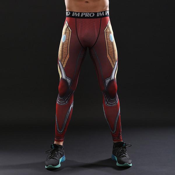 3 Infinity War MK50 Hierro Hombres 3D Patrón Impreso Medias de Compresión Pantalones Hombres Fitness Leggings Flacos Pantalones Masculinos