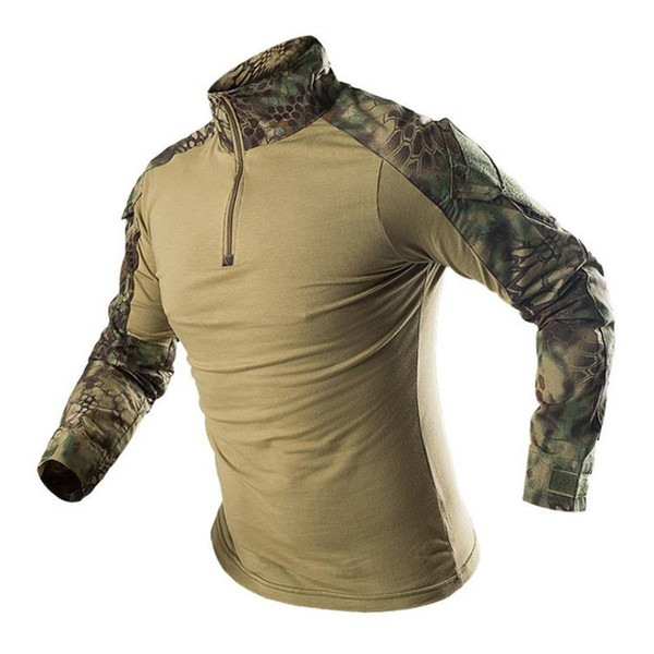 Men Outdoor Sport Training Hiking Climbing Fishing Short Sleeve Camouflage T-Shirts Tactical Quick Dry Breathable Tops