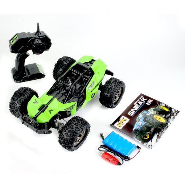 Large Size 1:12 Scale High Speed 25km/h 2WD 2.4Ghz Remote Control Truck , Radio Controlled Off-Road RC Car Electronic Monster Truck R/C RTR