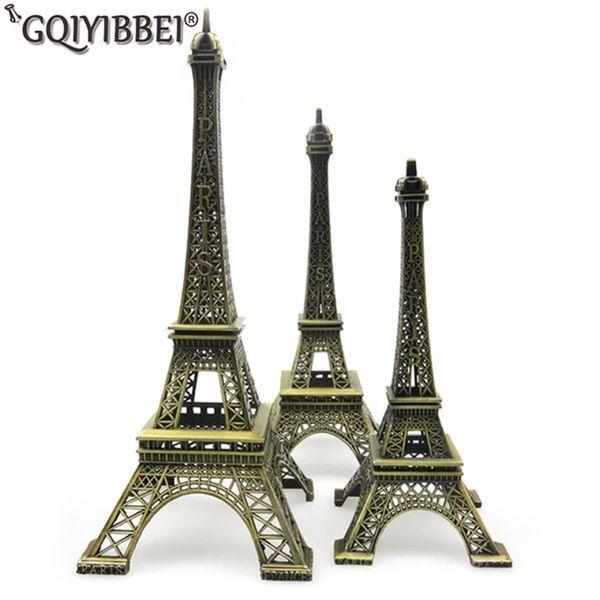 62 cm Kunsthandwerk Bronze Paris Eiffelturm Modell Ornamente Figur Zink-legierung Statue Reise Souvenirs Hauptdekorationen T190709