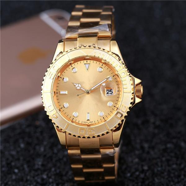 u-boot relogio masculino herrenuhren luxus kleid designer mode schwarzes zifferblatt kalender gold armband faltschließe master männlich rrol
