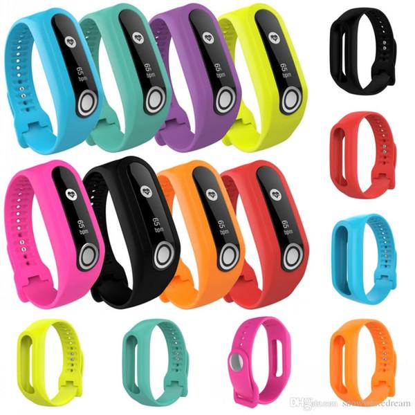 8 cores de substituição pulseira de relógio de silicone para tomtom touch esporte pulseira faixa de relógio vs tomtom runner 2 3 gps watch band