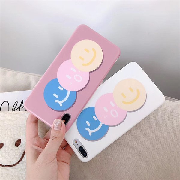 Korean Fashion Smiling Face Lovely Female Style Anti - fall Case For iPhone X XS XS MAX,Shell For iPhone 6 7 8/plus