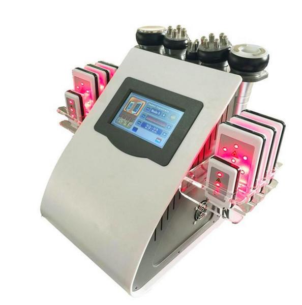 40k Ultraschall Liposuktion Kavitation 8 Pads 6 in 1 LLLT Lipo Laser Abnehmen Maschine Vakuum RF Hautpflege Salon Spa Ausrüstung DHL Geben Sie Schiff frei