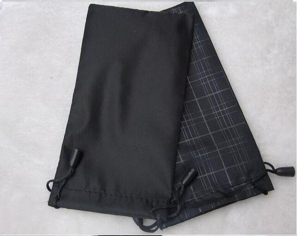 Mulheres moda grade bolsa preta bolsa de óculos macios saco de óculos caso quente à prova d 'água óculos de sol freeshipping