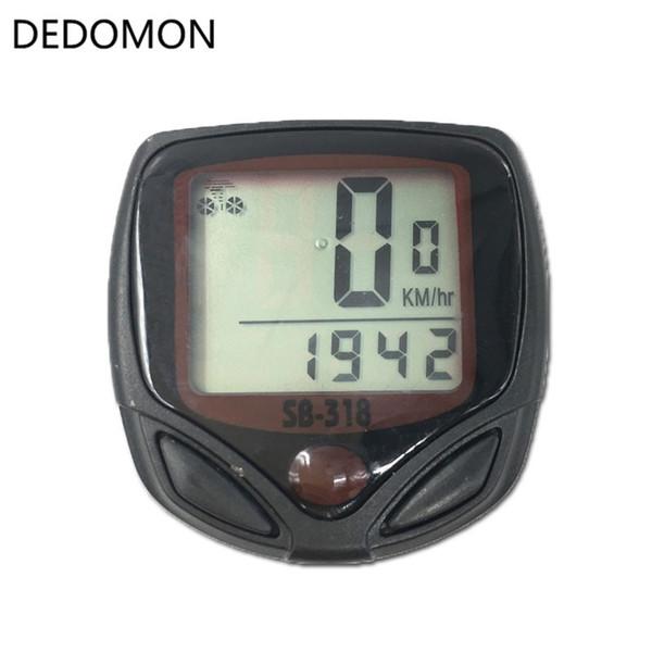 Waterproof display LCD New Speedometer Computer tier Bicycle 2 Odometer Bike +cable Cycle 15-Functions #24031