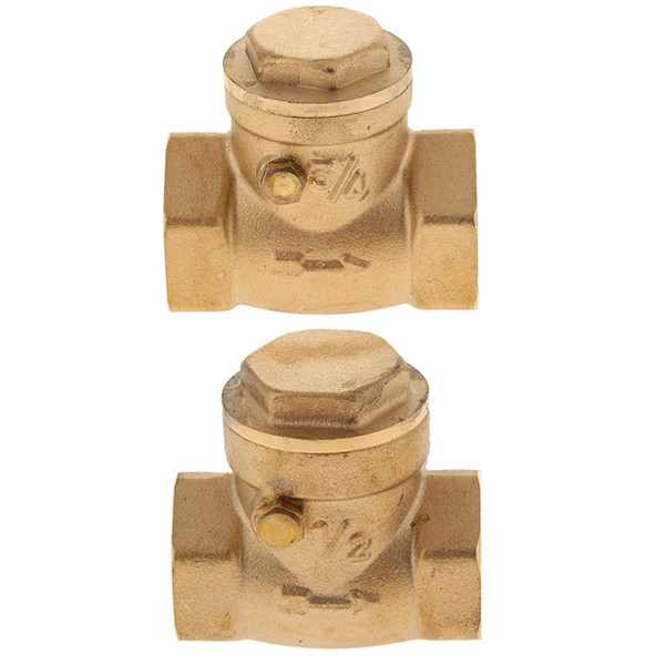 top popular 2xBrass Swing Check Valve Non Return DN20 DN15 For Preventing Water Backflow 2021
