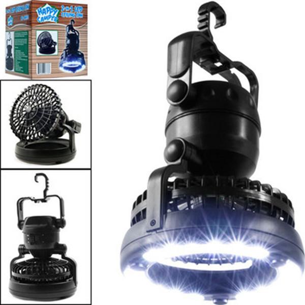 18 LED 2 en 1 ventilador de luz de camping multifuncional al aire libre LED de viaje tienda de emergencia luz linterna portátil LJJZ773