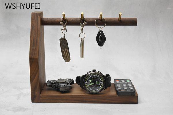 direct brass hook solid wood base key hanging home office deskkey storage rack creative decoration door shoe lock hook