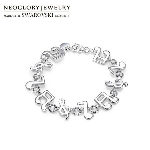 venta al por mayor S925 plateado pulsera encantadora de la nota de la música Gorgeous Spacer Beads Classic Colgantes Bangle Party Accessories