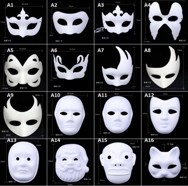 Satin Al Renkli Cizim Parti Maskeleri Yuz Boyama Anonim Maske