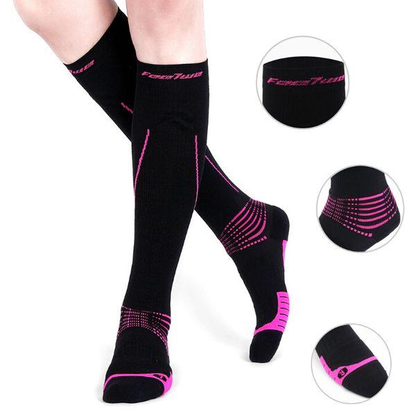 Chaussettes de sport pour hommes et femmes, sports de plein air, adulte, chaussettes de compression moyenne à boucle 200N à séchage rapide