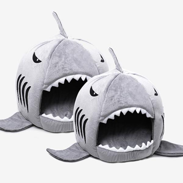 Cheap Houses Shark Shape Dog Cat Pet Sleeping Sofa Bed Size S M Drop Shipping