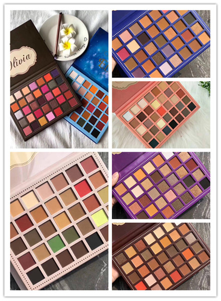 top popular Newest makeup Palette Beauty Olivia 35colors Eye shadow Palette Shimmer Matte High quality DHL shipping 2020