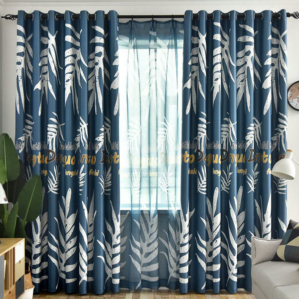 2019 2019 Blackout Curtain For Living Room /Bedroom/Kitchen Nordic Style  Colorful Banana Leaf Turtle Plant Curtains From Bigmum, $16.48 | DHgate.Com