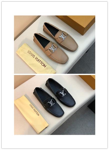 2019 hombres, zapatos de cuero genuino, 3 colores, diseño de lujo, alta calidad, informal y de negocios, cómodos y transpirables.