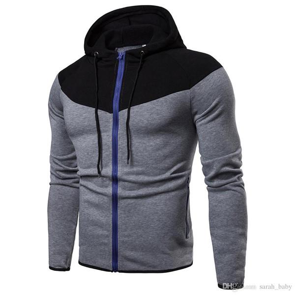 2018 nuevos hombres de gran tamaño de color suede con capucha sólido suéter abrigo de manga larga hombres niño ropa outwear Pullover en línea envío gratis