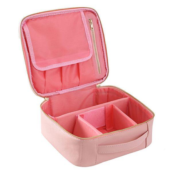 2018 Professional Vanity Cosmetic Bag Organizer Women Travel Make Up Cases Big Capacity Cosmetics Suitcases Waterproof