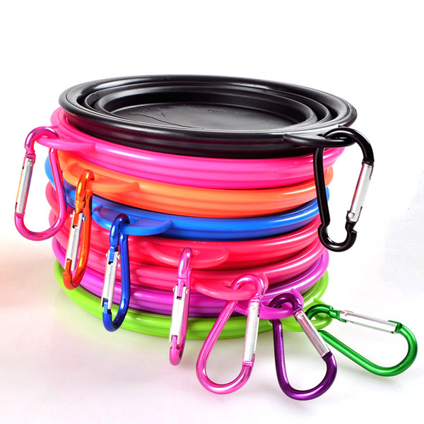 top popular HOT sale fancy design food grade Silicone dog food foldable bowl Travel Collapsible Pet Cat Feeding Eco Friendly Bowls Water Dish Feeder 2021