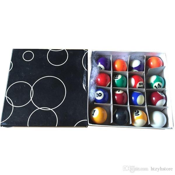 htzyh Полный набор 16 Миниатюрные Mini Pool бильярдные шары 25 мм Диаметр снукер бильярдных шаров