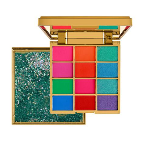 Glitter Eyeshadow 12 Colors Pigment Quicksand Eye Shadow Palette Waterproof Easy to Wear Shimmer Make up Sombras Para Ojos