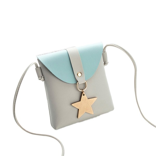 Cheap Fashion Fashion Candy Color Stars One Shoulder Small Messenger Bag high quality Mobile Phone Bag Cross body For teenage Girls B25