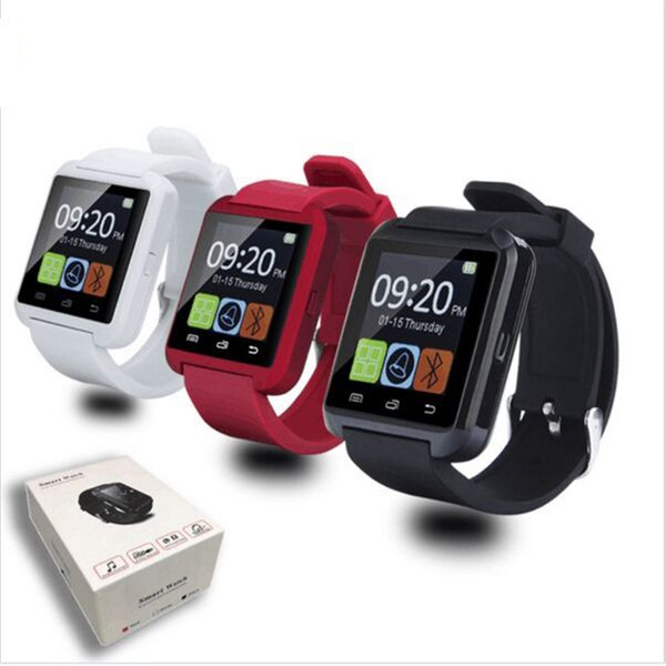 U8 Akıllı İzle Bluetooth Dokunmatik Ekran Bilek Saatler Için iPhone X IOS Samsung Android Telefon Perakende Paketi Ile Uyku Monitör Smartwatch