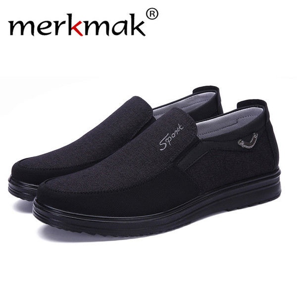 Merkmak 2019 Men High Canvas Shoes Male Summer White High Quality Casual Shoes Breathable Flat Shoes Hombre Large Size 38-50 MX190713