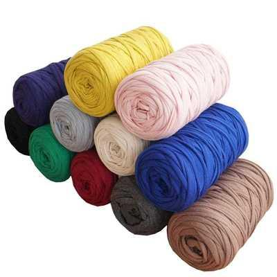 top popular 210g pcs Fancy Yarns For Hand Knitting Thick Thread Crochet Cloth Yarn DIY bag handbag carpet cushion Cotton Cloth for blanket 2021