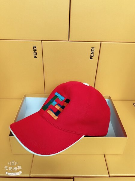 2019 Top Quality Celebrity design men woman sunhat Golf cap Fashion embroidery Letter Ball Caps Baseball hats with box FXQ498A6NRF0HEZ red