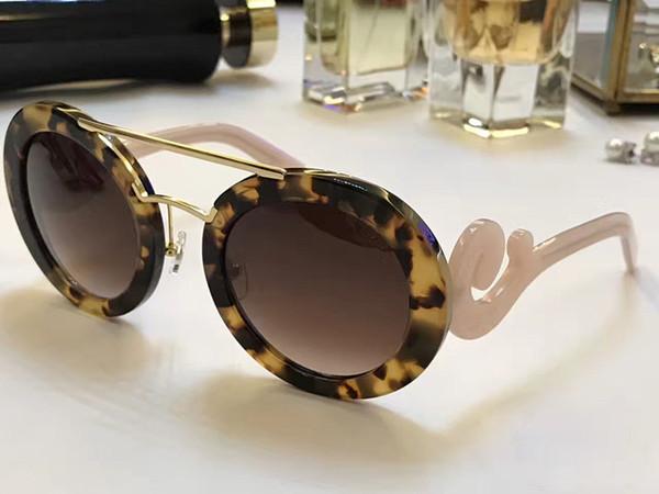 133 Luxury designer Sunglasses Round Shape Fashion Big Face Retro Vintage Summer Style Women PD Designer Full Frame Top Quality With Case