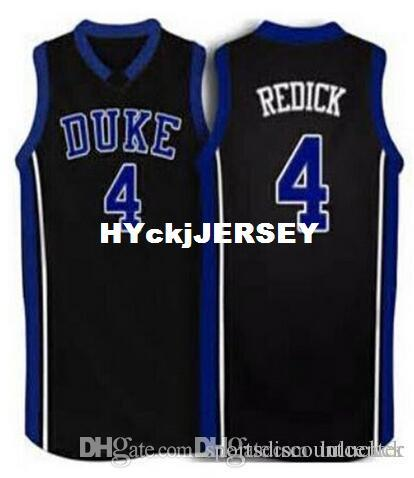#4 JJ Redick Duke Blue Devils blue white black Basketball Jersey Top Stitched Jerseys Customized Any Name And Number NCAA