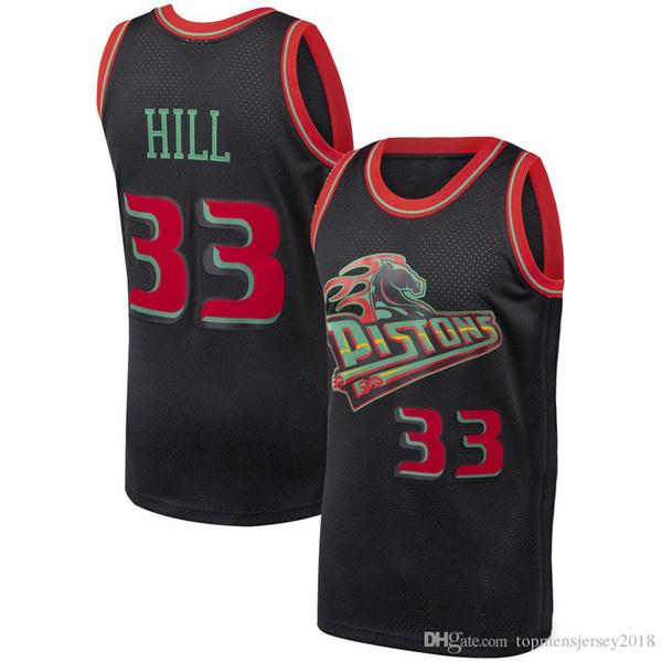 the best attitude 62ba2 727c0 2019 Detroit Grant 33 Hill Pistons Jersey Mesh Retro Basketball Jerseys 11  Isiah # Thomas 10 Dennis # Rodman Jersey S XXL From Topmensjersey2018, ...