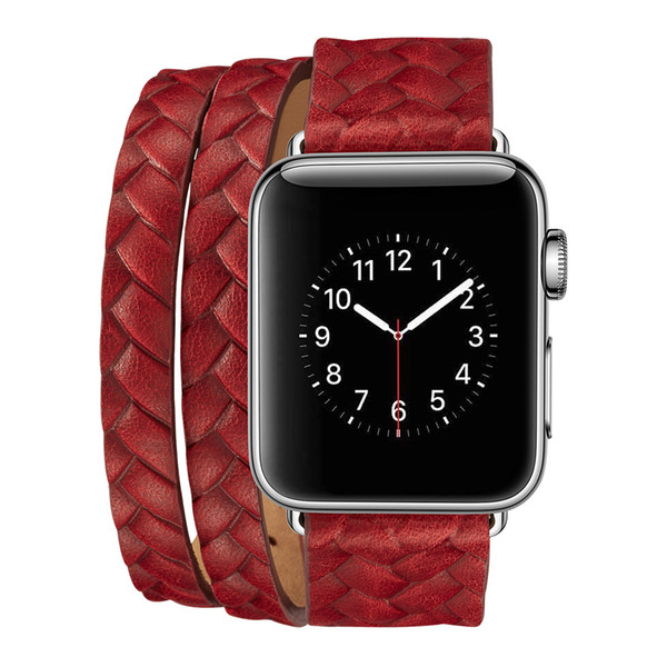 Suitable for AppleWatch crown embossing for double-loop cowhide strap
