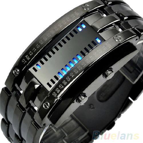 Erkekler Kadınlar Lüks Alaşım Bant Tarih Dijital LED İzle Elektronik Kol Saati Bilezik Spor Bilek İzle Relojes