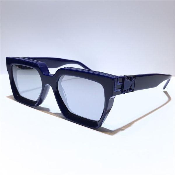 الأزرق مع الفضة عدسة مرآة