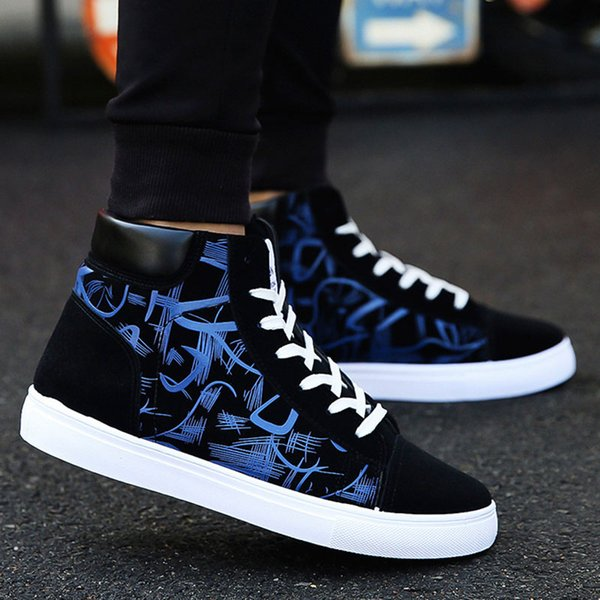 Men Shoes 2019 New Men Casual Shoes High Top Sneakers Lace Up Tenis Masculino Sneakers Footwear Canvas Male Masculinas