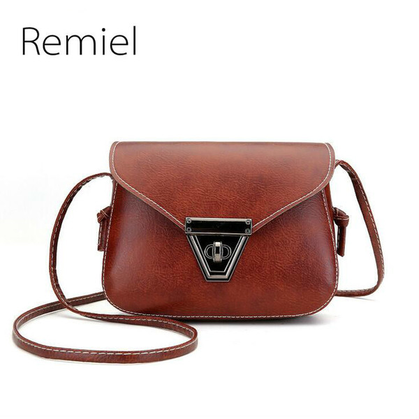 2019 Summer Fashion New Handbags High Quality Pu Leather Women Bag Sweet Lady Mini Bag Retro Metal Buckle Shoulder Messenger Bag