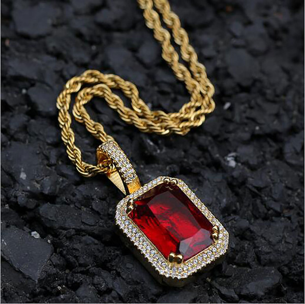 Gold Red+Rope Chain