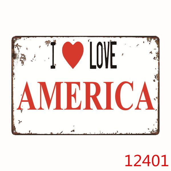 I Love Series Country Metal Tin Sign Bar Pub Home Wall Decoration Retro Metal Art Poster Crafts One