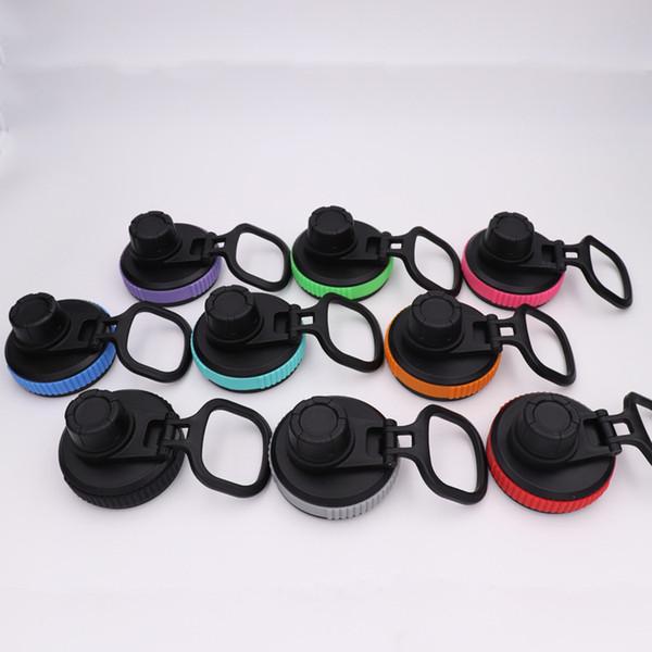 Tapa con pico y tapa con tapa abatible para matraz de botella de agua de boca ancha de 18 oz / 32 oz / 40 oz / 64 oz negro MMA2380