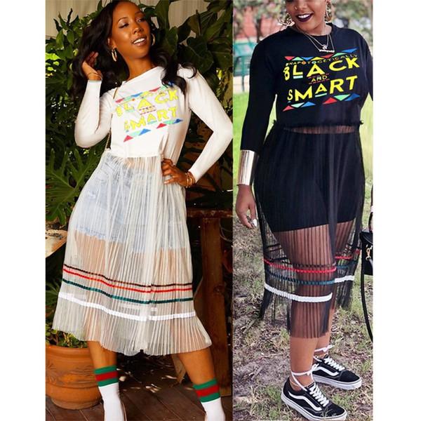 women designer Mid-Calf skirt long sleeve one piece dress high quality skinny dress sexy elegant luxury fashion skirt 0383