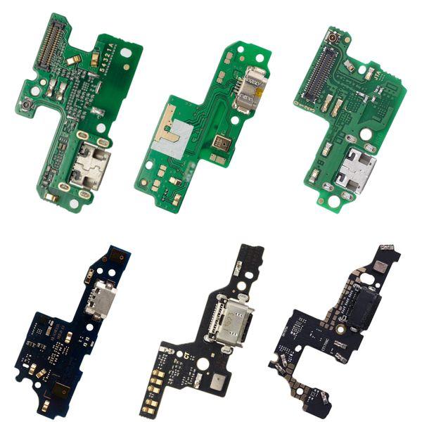 Para Huawei P8 P9 P10 lite Plus P8 lite 2017 Cargador Puerto de carga Muelle Conector USB Datos Flex Cable Auriculares Jack Flex Ribbon