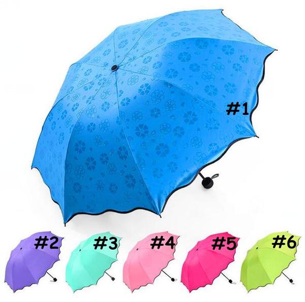 Ombrello Pioggia Completa Automatica Pioggia Unisex 3 Pieghevole Leggera e Resistente Ombrelloni 8K Robusta Ombrello Pioggia Pioggia Sunny 6 Colori CCA11780 30 pz