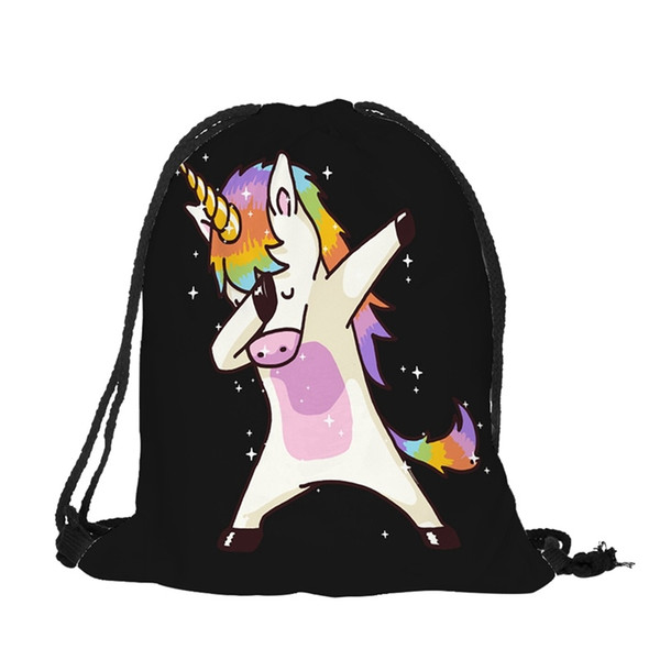 2019 New Cute Kid Baby Unicorn Pattern Sport Bags Swimming Bags Gym Pump Bag Sports School Drawstring Boy Girl Backpack Hot Sale #159334