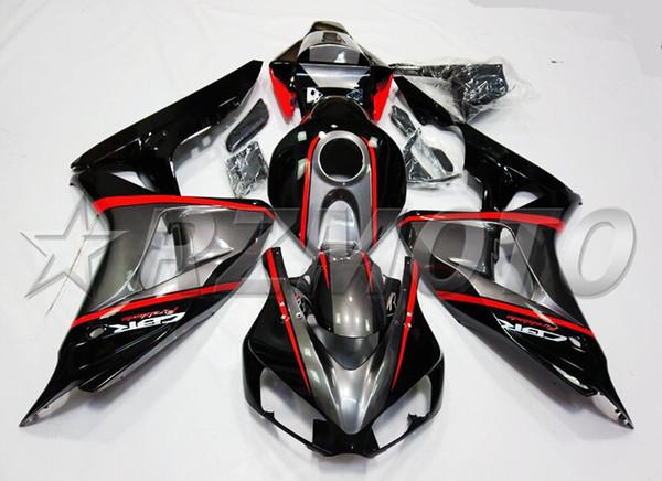 3gifts New Injection Mold Motorcycle ABS Full Fairings kit Fit for HONDA CBR1000RR 2006 2007 06 07 1000RR CBR1000 +tank cover custom black