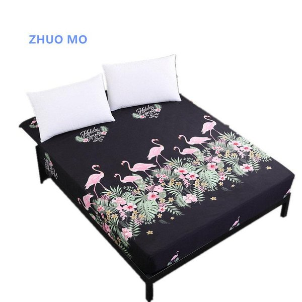 Flamingo Waterproof Bed Mattress Cover Watertight Mattress Protector Pad Fitted Sheet Separated Water Bed Linens with Elastic