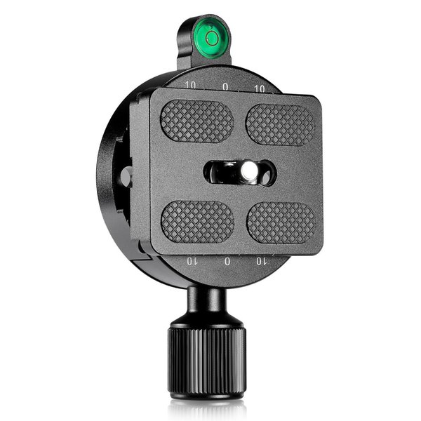 Q-Mount Base with Plate Screw Knob Clamp Adapter Mount for Quick Release QR Plate Camera Tripod Ballhead Monopod Ball Head